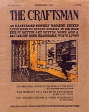 183 CRAFTSMAN MAGAZINES  1901-1916  Gustav Stickley homes HOUSE PLANS furniture