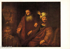 1983 Russian card repro CROESUS AND SOLON by U/K painter of Rembrandt's school