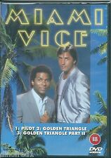 Miami Vice: Pilot/The Golden Triangle/The Golden Triangle Part 2 [DVD] SEALED