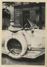 PHOTO ANCIENNE - VINTAGE SNAPSHOT - VOITURE DÉCAPOTABLE HOMME - CONVERTIBLE CAR