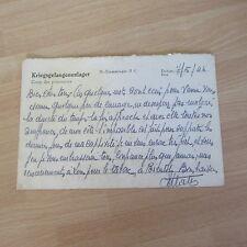 LETTRE CAMP DE PRISONNIER 1944 KRIEGSGEFANGENENLAGER