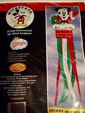 "DISNEY MICKEY MOUSE CHRISTMAS YARD 50"" WINDSOCK FLAG NEW RARE & HTF FAST SHIP"