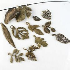 24pcs Wholesale Mixed Tree Leaf Theme Vintage Bronze Tone Alloy Pendants Finding