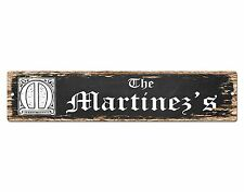 SP0448 The MARTINEZ'S Family name Plate Sign Bar Store Cafe Home Chic Decor