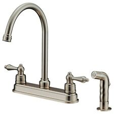 Goose Nose Kitchen Faucets with Sprayer, 8 inches Spread Installation, LK8B