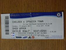 09/01/2011 Ticket: Chelsea v Ipswich Town [FA Cup] (folded)