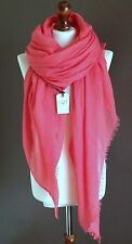 LUXE OVERSIZE LADIES SOFT PLAIN FRAYED FASHION SCARF CORAL HIJAB*BRANDNEW*COTTON
