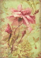 Ricepaper/ Decoupage paper, Scrapbooking Sheets /Craft Paper Antique Rose