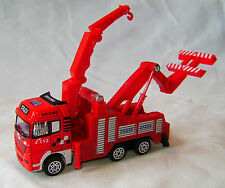 NEW TOY TRUCK CRANE CONSTRUCTION VEHICLE TOW LORRY WITH MOVING PARTS YIBAO RED