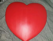 Vintage 1995 Union Valentines Day RED BLOW MOLD HEART  Decor cute! !!