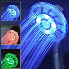 LED Shower Head Bathroom Handheld Rainfall Shower Faucet Bath Accessory