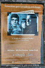 ORIGINAL A SIMPLE PLAN VIDEO ONE SHEET MOVIE POSTER 1999 PAXTON THORNTON FONDA