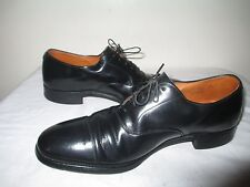ALAN MCAFEE Men's Hand Crafted Black Leather Cap Toe OXFORDS Shoes Made in ENGLA