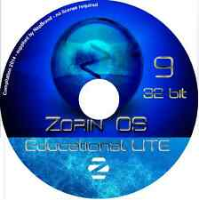 Zorin OS 9 Educational Lite Linux DVD 32 bit for older PCs run Live or Install