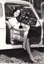 vintage car    black & white  amateur glamour   photograph