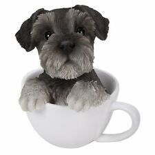 Adorable Teacup Pet Pals Puppy Collectible Figurine 5.75 Inches (Schnauzer)