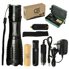 XML LED 5Mode Focus Zooming Flashlight Rechargeable Torch Light 18650 Battery