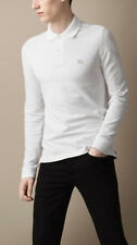 Burberry Brit Men Casual Long Sleeve Nova Mens Polo Shirt White XSMALL SX