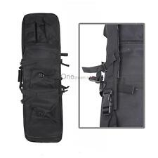 """47"""" Tactical Case Bag For Fishing Rod Double Carbine Rifle Weapons Bag Black OUR"""