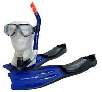 AQUATIC Maske Schnorchel Flossen Set Taucherbrille Tauchermaske Schnorchelset N9