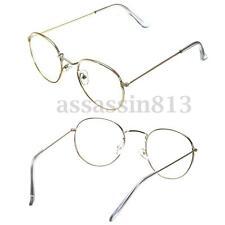 Vintage Transparent Gold Eyeglass Retro Oval Steel Legs Glasses Frame Spectacles