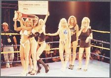 Vintage Photo Precision Bimbo Dancing Pretty Ring Girls on Wresting Floor 694012