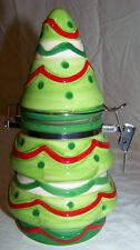 CHRISTMAS TREE JAR  - LID WITH CLASP - GREAT TO HOLD GIFT CERTIFICATE, CASH