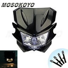 Universal Motorcycle HeadLight  Head Lamp Dual Sport For YAMAHA Street Fighter