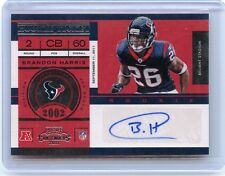 2011 PLAYOFF CONTENDERS #114 BRANDON HARRIS AUTOGRAPH AUTO ROOKIE RC - TEXANS