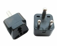 Grounded Universal Travel Plug Adapter Type D for India, Africa - 2 Pack