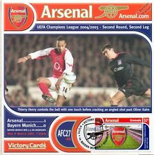 Arsenal 2004-05 bayern munich (thierry henry) football timbre victoire carte #427
