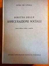 LIBRO LUIGI DE LITALIA - DIRITTO DELLE ASSICURAZIONI SOCIALI - UTET 1959