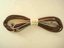 Original Western Electric telephone brown cloth mounting subset ringer cord NOS