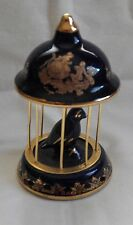 LIMOGES BLUE & GOLD VICTORIAN BIRD CAGE, MADE IN FRANCE