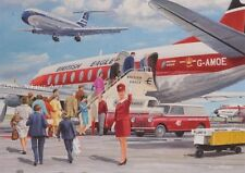 British Eagle Airways BOAC Vickers Viscount VC-10 Airliner Blank Birthday Card