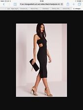Missguided Cut Out Sides Body Con Dress