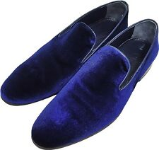 Original Chelsy - Top Italian Designer Slippers Horse Coat Navy 39