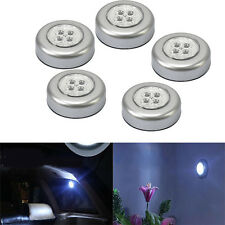 5PCS 4 LED Bulbs Push Tap Stick Touch Lamp Cabinet Night Light Cordless Car Home