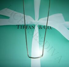 "TIFFANY & CO. RETIRED TRADEMARK AND NECKLACE! SILVER! 18""L! RETIRED TRADEMARK!"