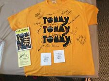 The Who's Tommy Broadway Musical Cast Autographed Shirt Broadway Memorabilia