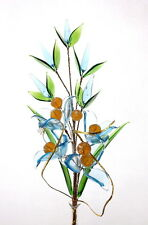 Amazing Elegant Glass Flower On Wire Stem Handmade Fantastic Mothers Day Gift