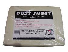 Cotton Twill Heavy Duty Dust Sheet 12ft x 9ft
