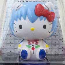 Evangelion × Hello Kitty Rei Ayanami Bobble Head Figure Solar Powered JAPAN