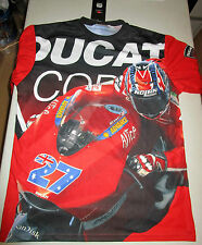 CASEY STONER HAND SIGNED DUCATI SHIRT UNFRAMED + PHOTO PROOF C.O.A