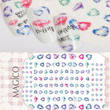 1Sheet Ultrathin Adhesive 3D Nail Art Sticker Gemstone Nail Decal Decoration