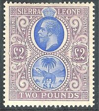 Sierra LEONE 1912 Blu / dull-purple £ 2 MINT sg129