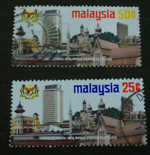 MALAYSIA 1974 Establishiment of KL as Federal Territory stamp 2v USED