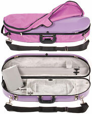 Bobelock Purple Fiberglass 4/4 Violin Case: Silver Int