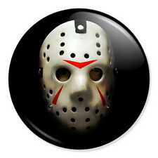 "Friday The 13th Mask 25mm 1"" Pin Badge Button Jason Horror Film Retro Cult"