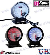D1 SPEC UNIVERSAL RACING OIL TEMPERATURE GAUGE 60mm WHITE Dial JDM RALLY DRIFT